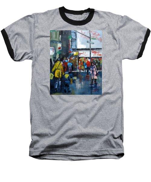 Hurry Baseball T-Shirt by Barbara O'Toole