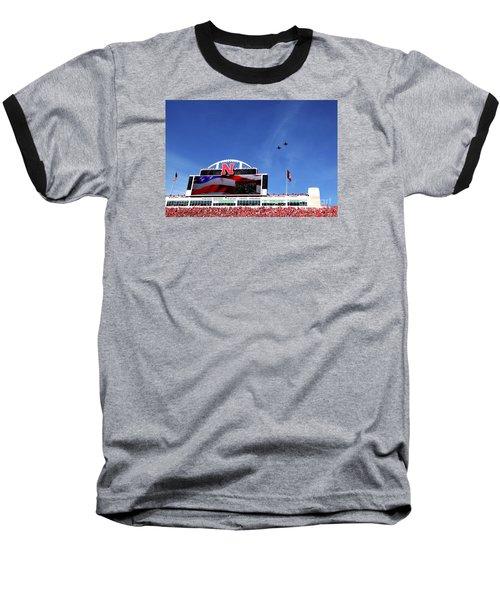 Husker Memorial Stadium Air Force Fly Over Baseball T-Shirt
