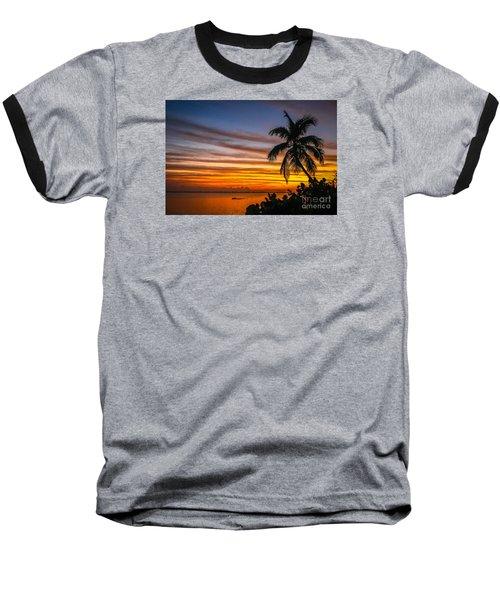 Hutchinson Island Sunrise #1 Baseball T-Shirt by Tom Claud