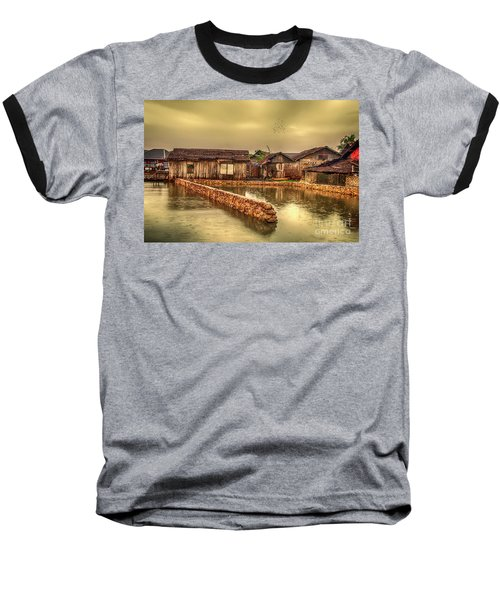 Baseball T-Shirt featuring the photograph Huts 2 by Charuhas Images