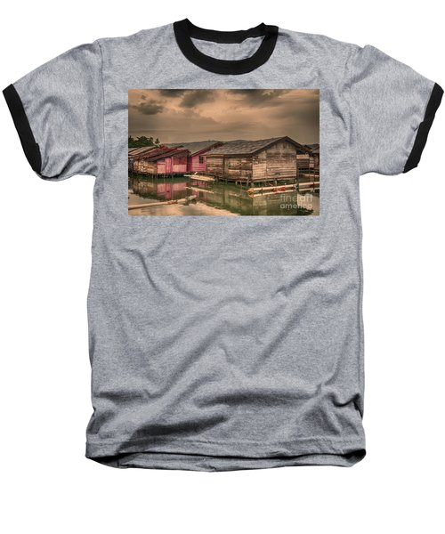 Baseball T-Shirt featuring the photograph Huts In South Sulawesi by Charuhas Images
