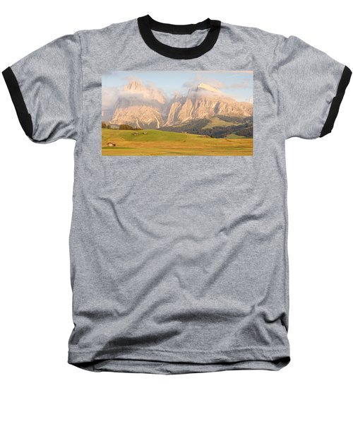 Huts On The Alpe Di Siusi Baseball T-Shirt