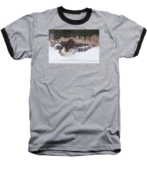Hunting In The Snow Baseball T-Shirt by CR Courson
