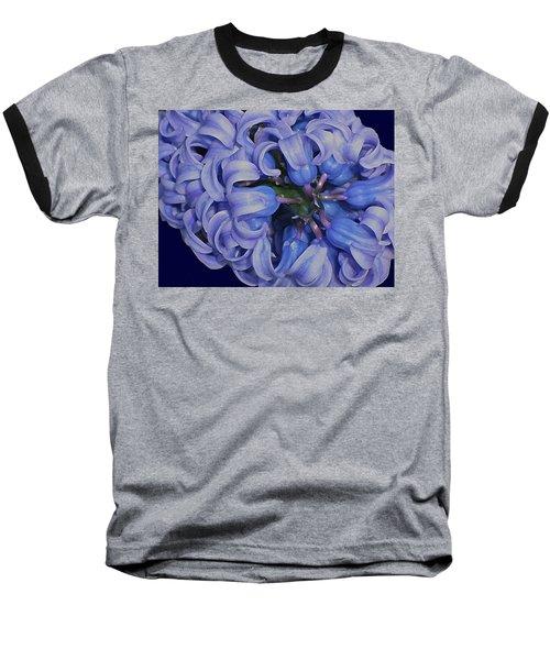 Hyacinth Curls Baseball T-Shirt by Lynda Lehmann