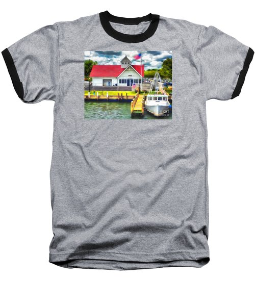 Baseball T-Shirt featuring the photograph Hyannis The Coastguard by Jack Torcello
