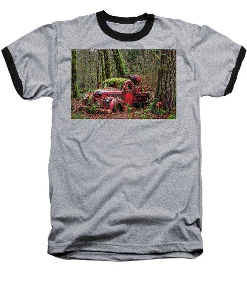 Hybrid Fire Truck Baseball T-Shirt