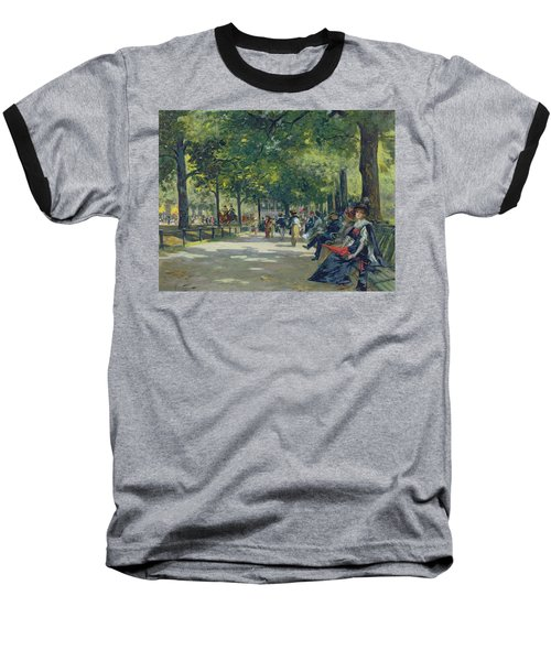 Hyde Park - London  Baseball T-Shirt by Count Girolamo Pieri Nerli