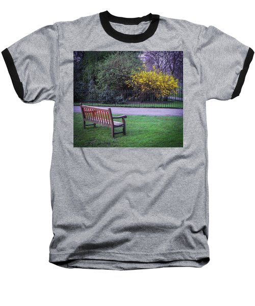 Hyde Park Bench - London Baseball T-Shirt