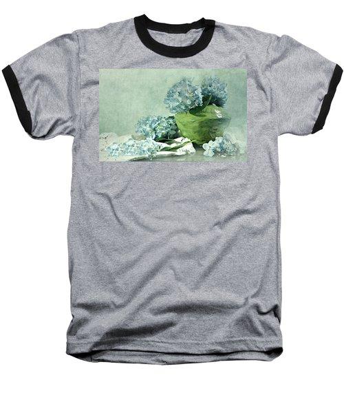 Hydra Blues Baseball T-Shirt by Diana Angstadt