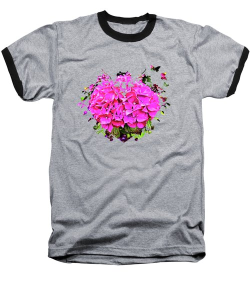 For The Love Of Hydrangeas Baseball T-Shirt by Thom Zehrfeld