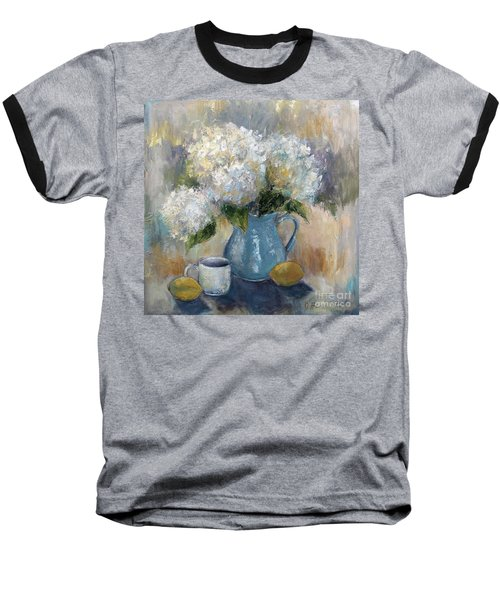 Hydrangea Morning Baseball T-Shirt by Jennifer Beaudet