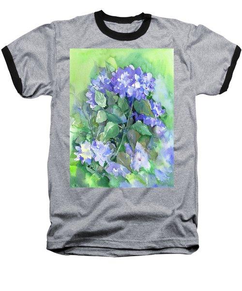 Hydrangea Baseball T-Shirt by Suren Nersisyan