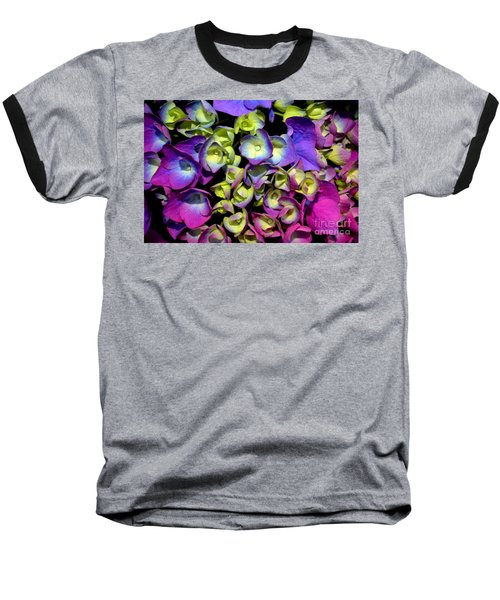 Hydrangea Baseball T-Shirt by Vivian Krug Cotton