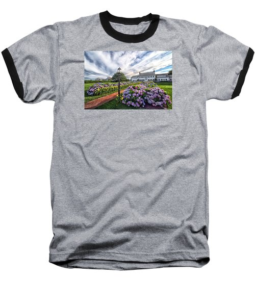 Baseball T-Shirt featuring the photograph Hydrangea Walk House by Constantine Gregory