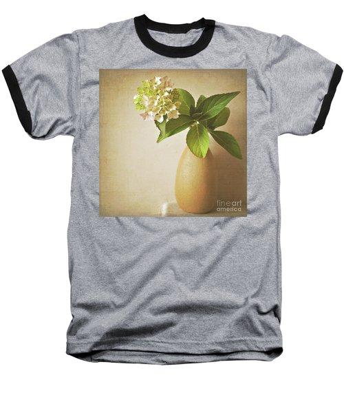 Hydrangea With Leaves Baseball T-Shirt