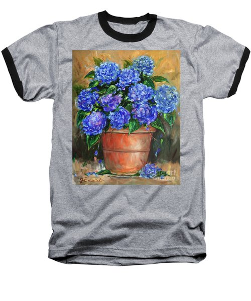 Baseball T-Shirt featuring the painting Hydrangeas In Pot by Jennifer Beaudet