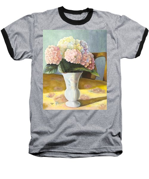 Baseball T-Shirt featuring the painting Hydrangeas by Marlene Book