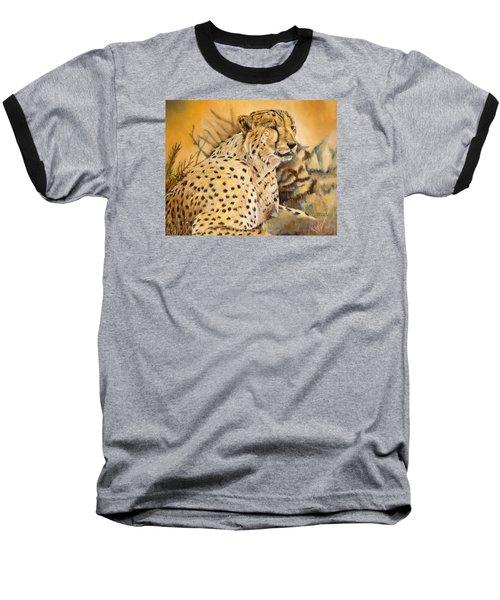 I Am Cheetah Baseball T-Shirt by Marilyn  McNish