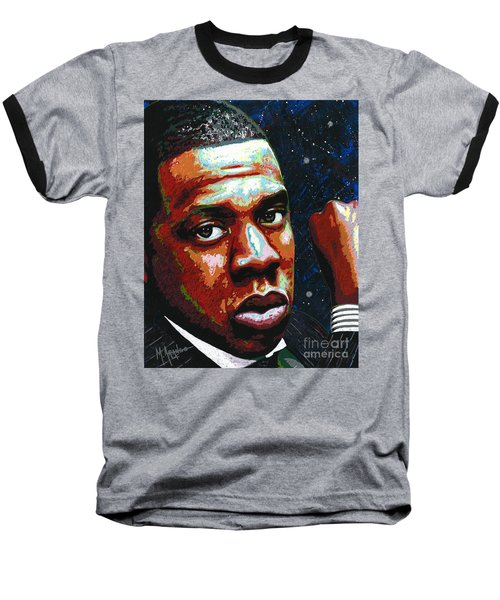 I Am Jay Z Baseball T-Shirt by Maria Arango