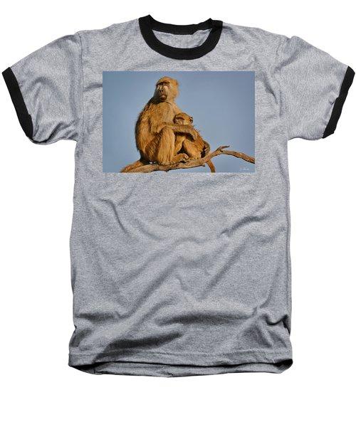 I Am So Scared Mama Baseball T-Shirt by Joe Bonita