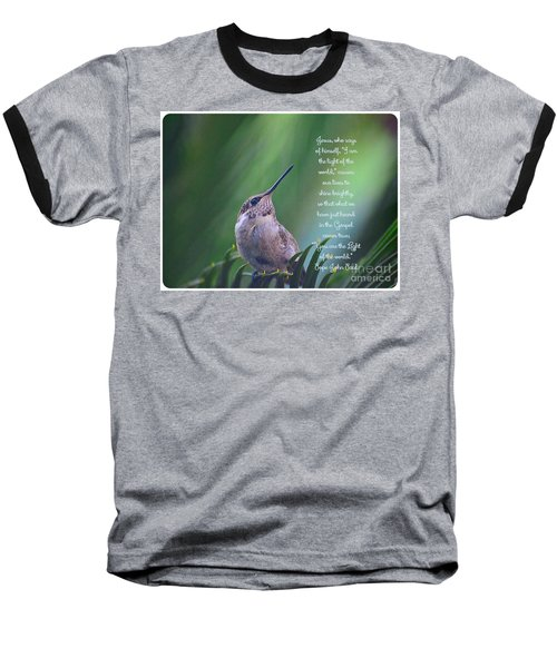 Baseball T-Shirt featuring the photograph I Am The Light Of The World by Debby Pueschel
