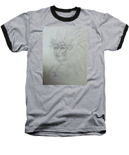 Baseball T-Shirt featuring the drawing I Am The Phoenix by Sharyn Winters