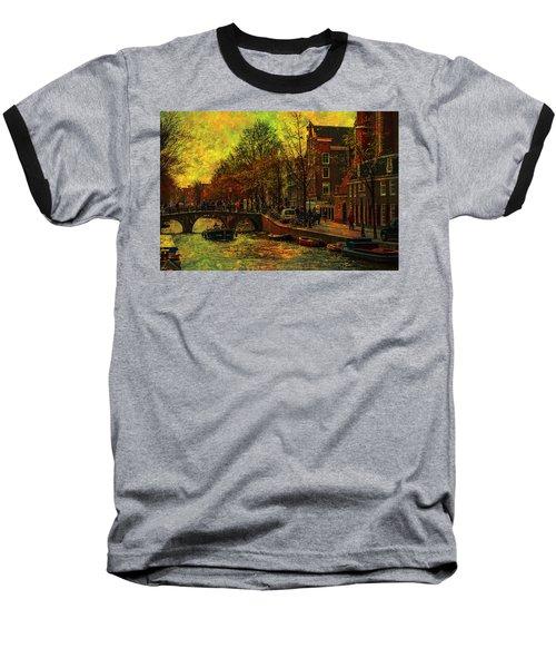 I Amsterdam. Vintage Amsterdam In Golden Light Baseball T-Shirt
