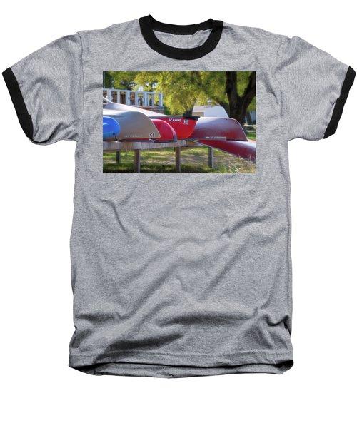 I Believe I'll Go Canoeing Baseball T-Shirt