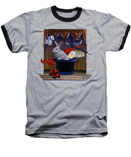 I Believe In Magic Baseball T-Shirt by Rob Corsetti