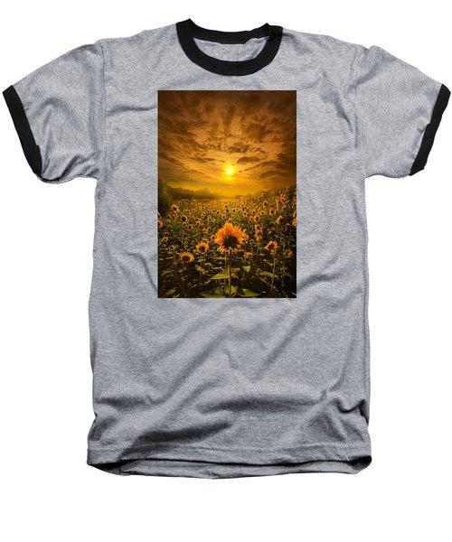 I Believe In New Beginnings Baseball T-Shirt by Phil Koch