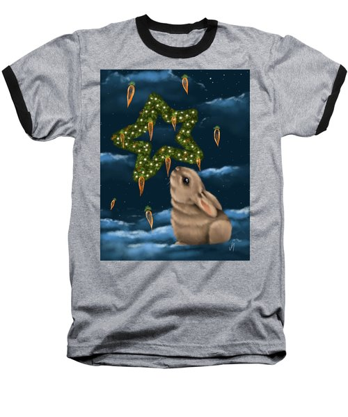 Baseball T-Shirt featuring the painting I Can Smell The Christmas In The Air by Veronica Minozzi