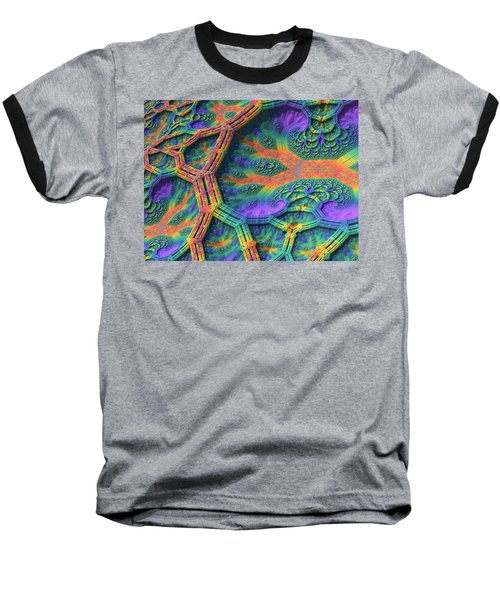 Baseball T-Shirt featuring the digital art I Don't Do Drugs, Just Fractals by Lyle Hatch