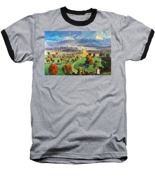 Baseball T-Shirt featuring the painting I Dreamed America by Art James West