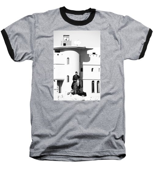 Baseball T-Shirt featuring the photograph I Gotta Leave This Town by Jez C Self
