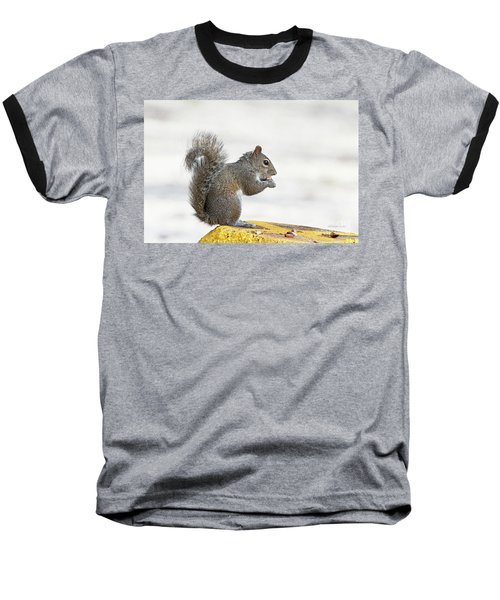 Baseball T-Shirt featuring the photograph I Have My Nuts by Deborah Benoit