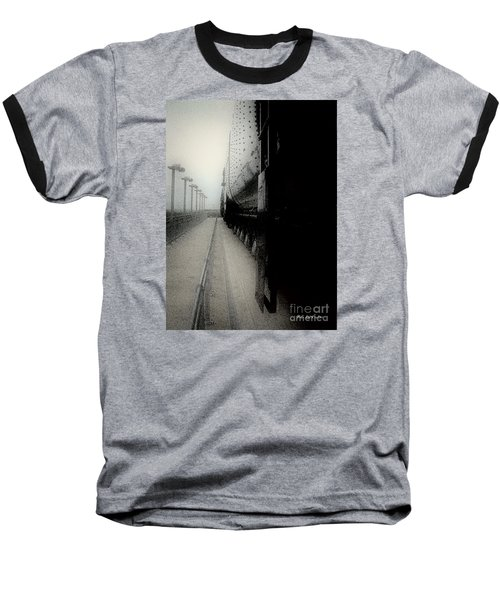 Baseball T-Shirt featuring the drawing I Hear That Lonesome Whistle Blow by RC deWinter