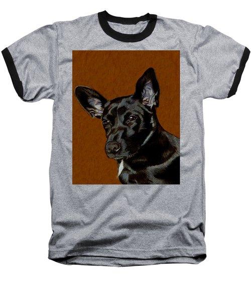 I Hear Ya - Dog Painting Baseball T-Shirt by Patricia Barmatz