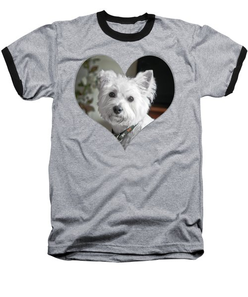 I Heart Puppy On A Transparent Background Baseball T-Shirt