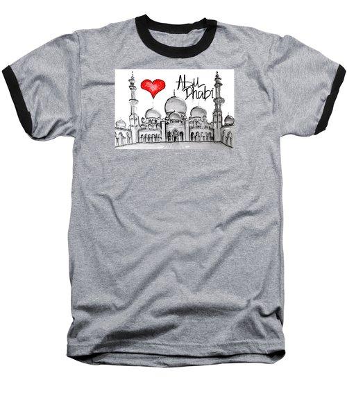 I Love Abu Dhabi Baseball T-Shirt