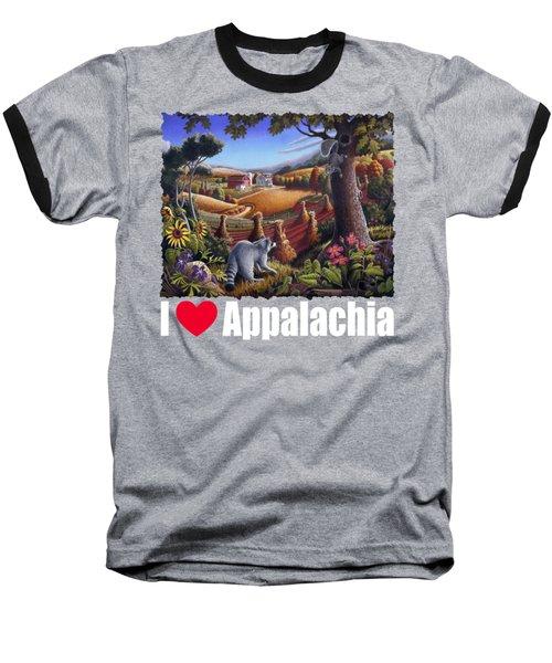 I Love Appalachia T Shirt - Coon Gap Holler 2 - Country Farm Landscape Baseball T-Shirt