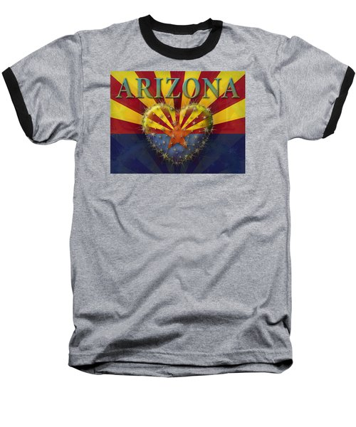I Love Arizona Flag Baseball T-Shirt