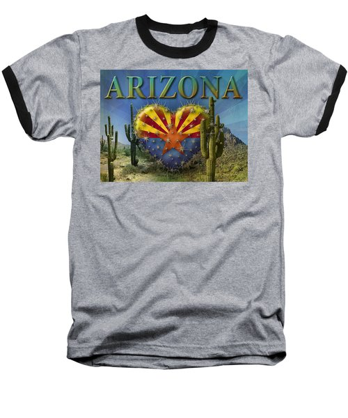 I Love Arizona Landscape Baseball T-Shirt