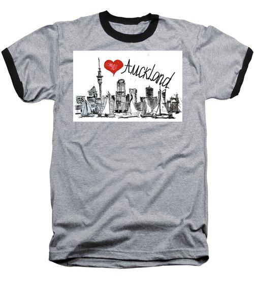 I Love Auckland  Baseball T-Shirt