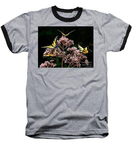 I Love Butterflies  Baseball T-Shirt by Christy Ricafrente