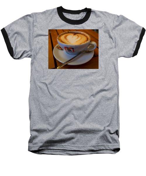 I Love Coffee Baseball T-Shirt