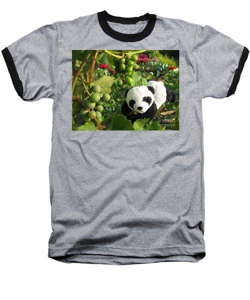 Baseball T-Shirt featuring the photograph I Love Grapes B by Ausra Huntington nee Paulauskaite