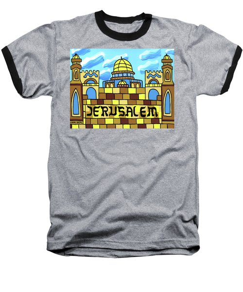 I Love Jerusalem Baseball T-Shirt