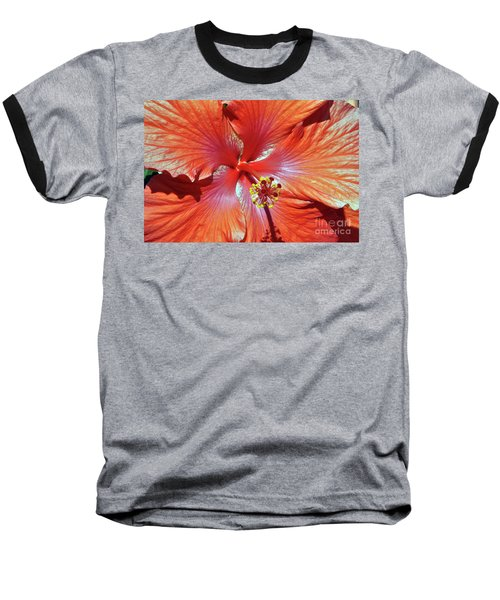 I Love Orange Flowers 2 Baseball T-Shirt