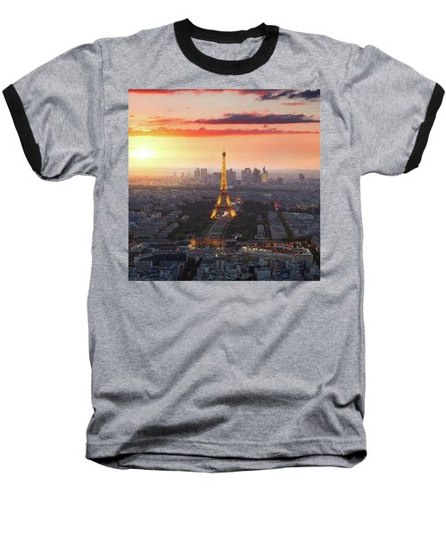 I Love Paris Baseball T-Shirt