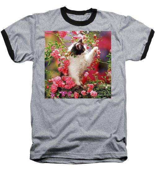 I Love Roses Baseball T-Shirt